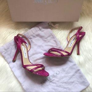 Authentic Jimmy Choo Jasmine Snakeskin Sandals